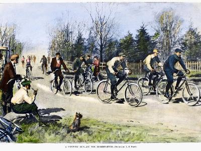 Bicycle Race, 1896-Arthur Burdett Frost-Giclee Print