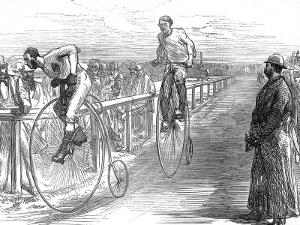 Bicycle Race at Lillie-Bridge, London, 1875