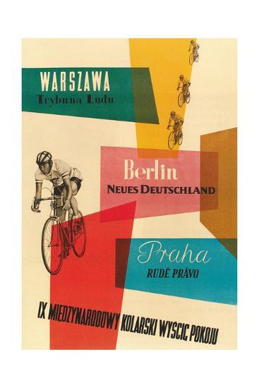 Bicycle Race, Warsaw, Berlin, Prague--Premium Giclee Print