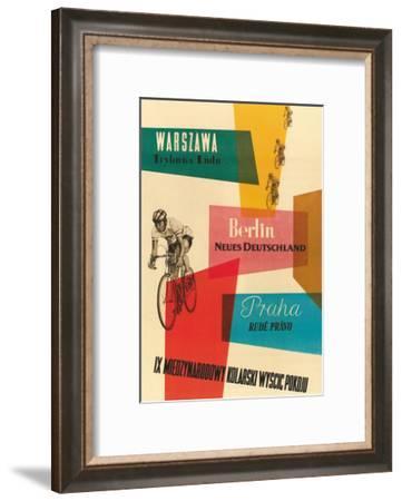Bicycle Race, Warsaw, Berlin, Prague--Framed Giclee Print