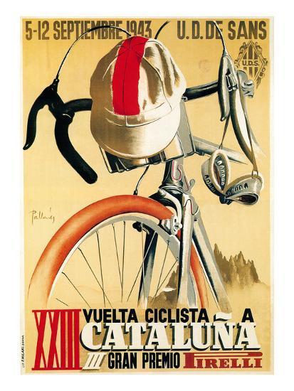 Bicycle Racing Promotion-Lantern Press-Premium Giclee Print