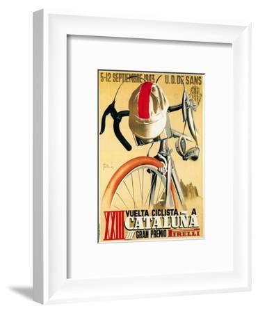 Bicycle Racing Promotion-Lantern Press-Framed Art Print