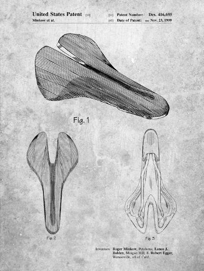 Bicycle Seat Patent-Cole Borders-Art Print