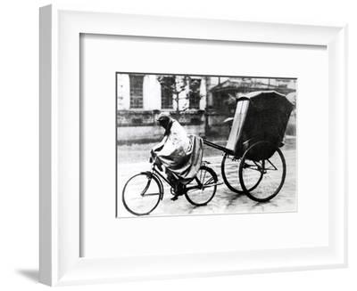 Bicycle Taxi, German-Occupied Paris, 1940-1944--Framed Giclee Print