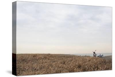 Bicycle that Was Left on the Beach Side-Hiroshi Watanabe-Stretched Canvas Print