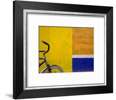 Bicycle Waits for its Owner on a Cozumel Side Street, Mexico-Michael S. Lewis-Framed Photographic Print