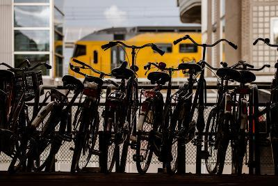 Bicycles at Centraal Station-Erin Berzel-Photographic Print