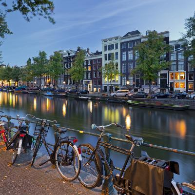 Bicycles, Houses Near the Keizersgracht, Amsterdam, the Netherlands-Rainer Mirau-Photographic Print