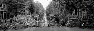 Bicycles on Bridge over Canal, Amsterdam, Netherlands