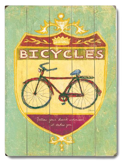 Bicycles--Wood Sign