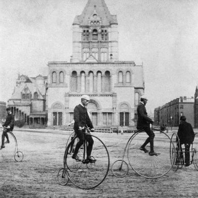 Bicycling, 1880s--Giclee Print
