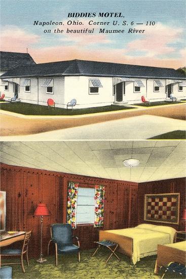 Biddies Motel, Napoleon, Ohio--Art Print