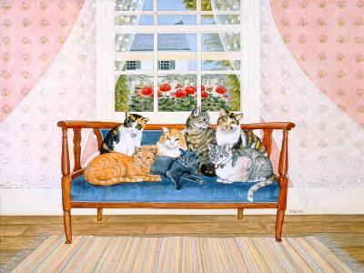 Biedermeier-Cats-Ditz-Giclee Print