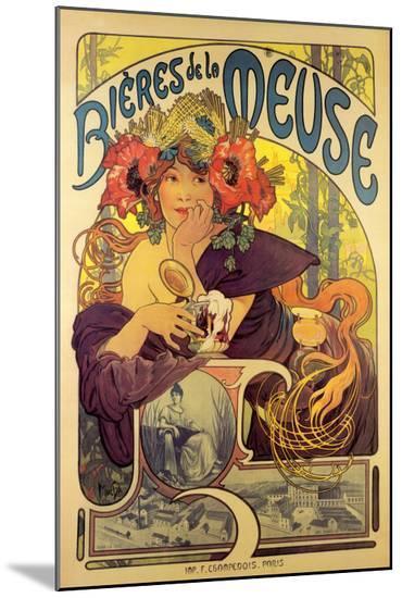 Bieres de la Meuse-Alphonse Mucha-Mounted Print