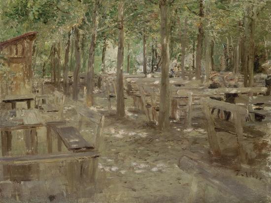 Biergarten in Dachau, 1888-Fritz von Uhde-Giclee Print
