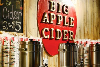 Big Apple Cider for Sale at the Christmas Market in Bryant Park,-Sabine Jacobs-Photographic Print