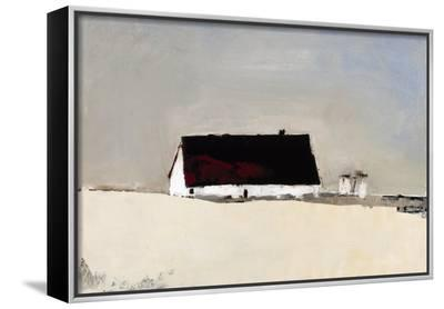 Big Barn and Silos-Sandra Pratt-Framed Canvas Print