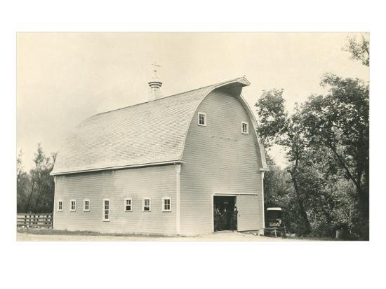 Big Barn--Art Print