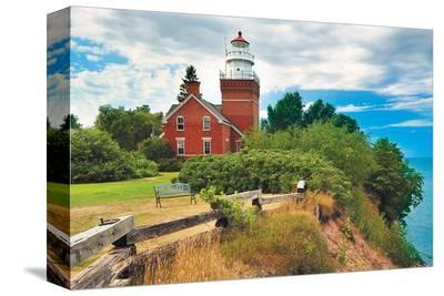 Big Bay Lighthouse -Big Bay MI--Stretched Canvas Print