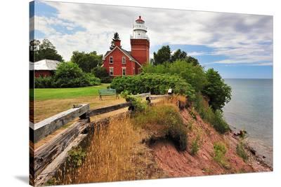 Big Bay Lighthouse Michigan--Stretched Canvas Print