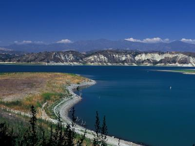 Big Bear Lake in The San Bernadino National Forest, California, USA-Julie Bendlin-Photographic Print