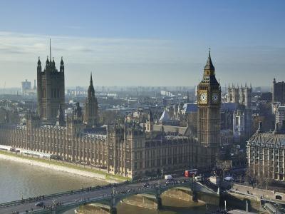 Big Ben and Houses of Parliament, London, England-Jon Arnold-Photographic Print