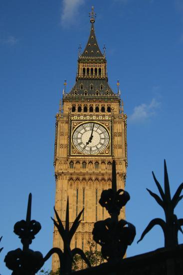 Big Ben and Iron Fence, Close Up-Design Pics Inc-Photographic Print