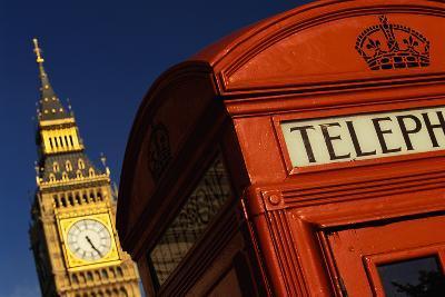 Big Ben and Telephone Booth-Jon Hicks-Photographic Print