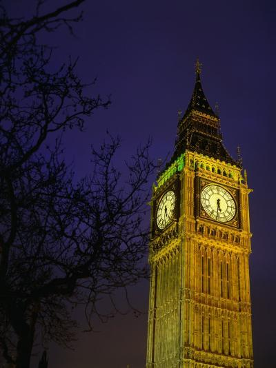 Big Ben at Night, London, Greater London, England-Jan Stromme-Photographic Print