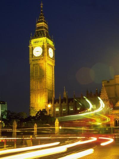 Big Ben at Night, London, UK-Bruce Clarke-Photographic Print