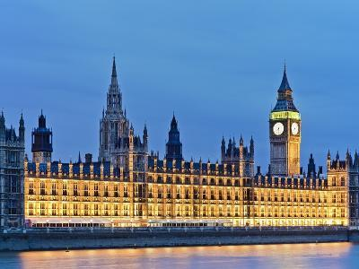 Big Ben Clock Tower and Houses of Parliament-Rudy Sulgan-Photographic Print