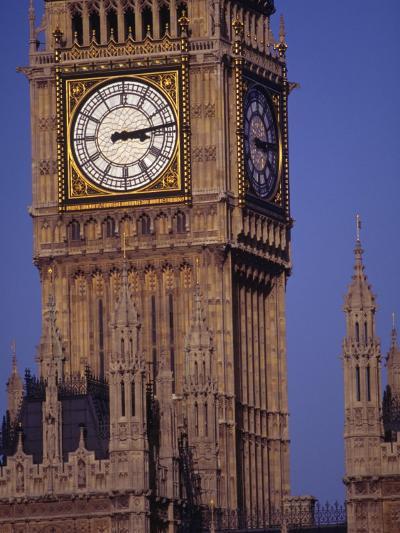 Big Ben Clock Tower, London, England-Robin Hill-Photographic Print