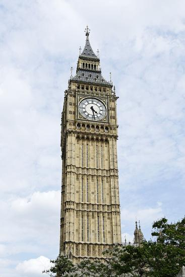 Big Ben, Clock Tower of the Palace of Westminster, British Parliament-Axel Schmies-Photographic Print