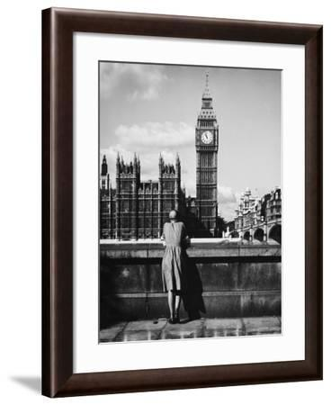 Big Ben from the South Bank-Nat Norman-Framed Photographic Print