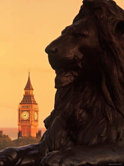 Big Ben from Trafalgar Sq. London, England-Doug Pearson-Photographic Print