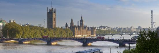 Big Ben, Houses of Parliament and River Thames, London, England-Jon Arnold-Photographic Print