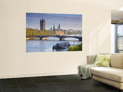Big Ben, Houses of Parliament and River Thames, London, England-Jon Arnold-Wall Mural