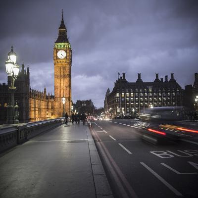 Big Ben, Houses of Parliament and Westminster Bridge, London, England-Jon Arnold-Photographic Print