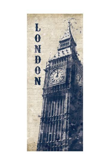 Big Ben in Indigo-N^ Harbick-Art Print