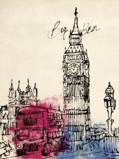 Big Ben in Pen-Morgan Yamada-Art Print
