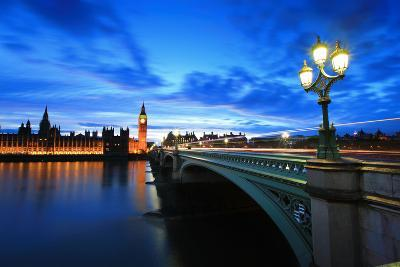 Big Ben London at Night-aslysun-Photographic Print