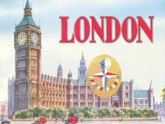 Big Ben London-Found Image Press-Art Print