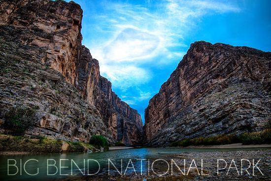 Big Bend National Park, Texas - Rio Grande River-Lantern Press-Wall Mural