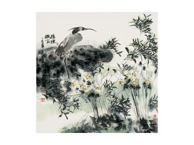 Big Bird and Narcissuses-Wanqi Zhang-Giclee Print