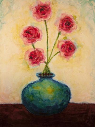 Big Blue Vase-Marabeth Quin-Art Print