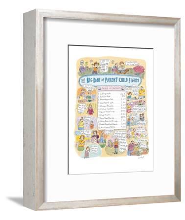Big Book of Parent-Child Fights' - New Yorker Cartoon-Roz Chast-Framed Premium Giclee Print