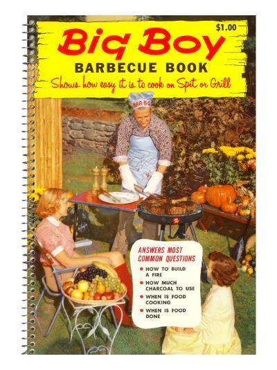 Big Boy Barbecue Book, Book Cover--Art Print