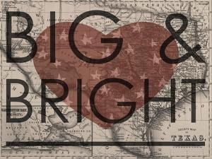 Big & Bright - 1864, Texas Mitchell Plate, Texas, United States Map