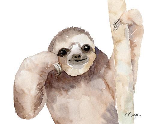 Big Brown Sloth-Elise Engh-Art Print