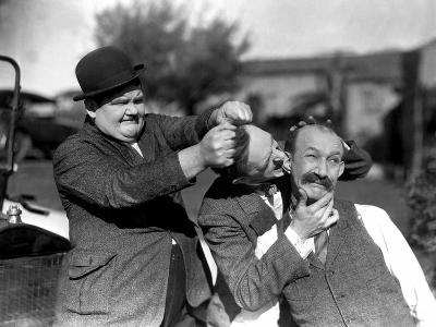 Big Business, Oliver Hardy, Stan Laurel [Laurel and Hardy], James Finlayson, 1929--Photo